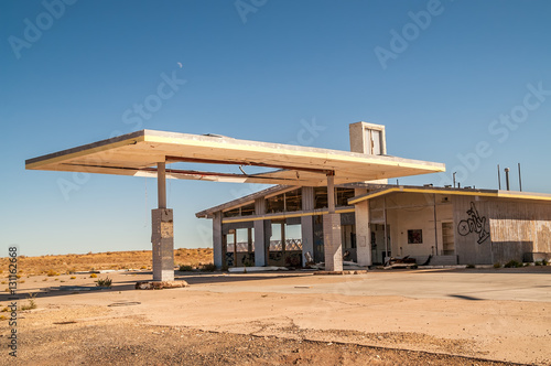 Fotobehang Route 66 Former Service Station on Route 66