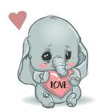 cute little cartoon elephant