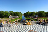 SAINT-PETERSBURG, sunny day, Peterhof, Russia