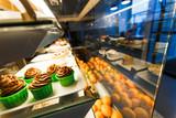 Cupcakes in cafeteria