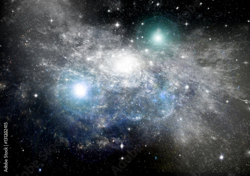 Stars, dust and gas nebula