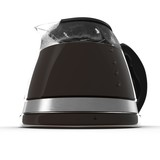 black coffee pot isolated on white. 3D illustration