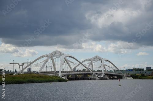 Poster Brücke bei Amsterdam