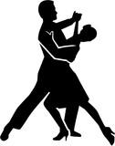 Fototapety Foxtrot dancing couple