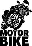 Motobike with biker