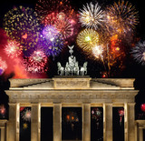 Feuerwerk Brandenburger Tor Berlin