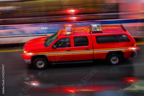 straż pożarna i brygada strażaków w mieście