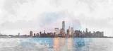 Fototapety Manhattan skyline from Jersey City
