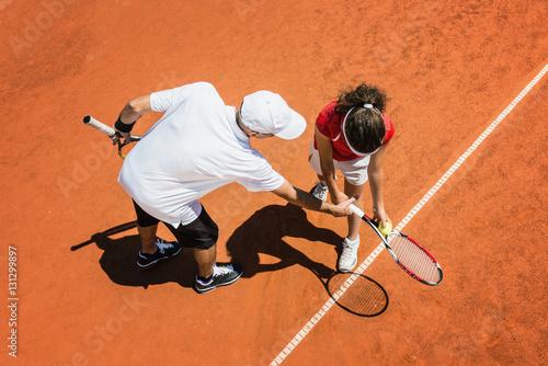 Fototapeta Tennis training
