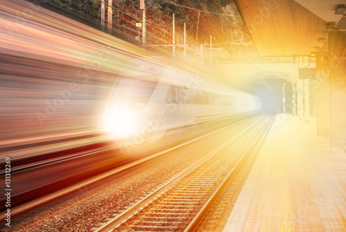 Poster high speed train