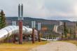 The Trans-Alaska Pipeline in Fall. Richardson Highway. Alaska.