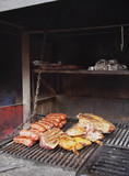 Argentina, Buenos Aires, La Boca, Traditional Argentine Parillada in Gran Paraiso Restaurant.