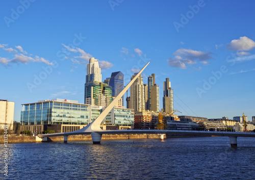Aluminium Buenos Aires Argentina, Buenos Aires Province, City of Buenos Aires, View of Puente de la Mujer in Puerto Madero.