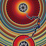 Aboriginal art vector painting.