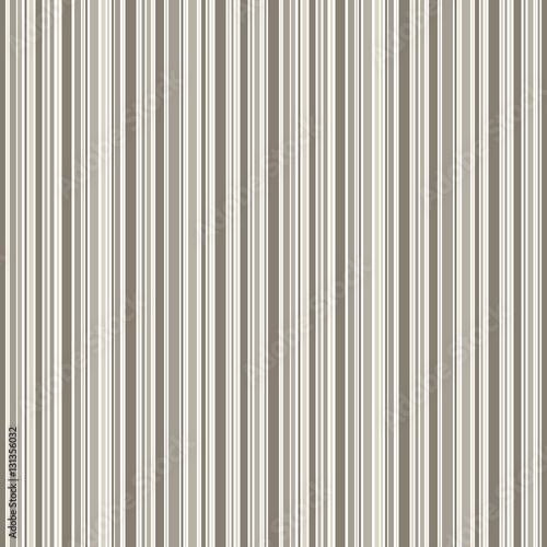 Fototapeta Grey brown and white lines background. Seamless vector stripes pattern