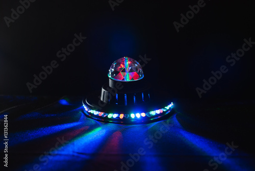 Poster alien spaceship , glow UFO, children's lamp,
