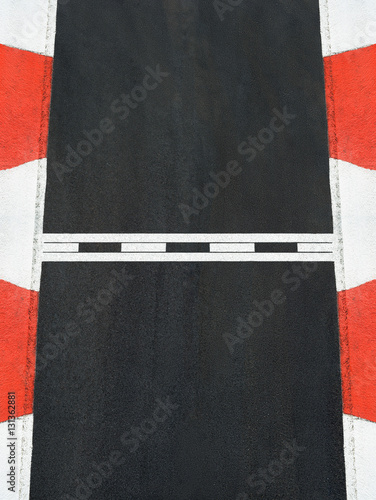 Poster Start and Finish race line asphalt texture Grand Prix circuit
