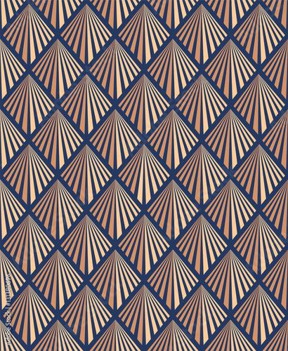 Naklejka Seamless Art Deco Pattern. Global Colors Used.