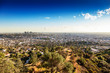 Sprawling Los Angeles as seen from the hilltop vantage point of the Griffith Observatory