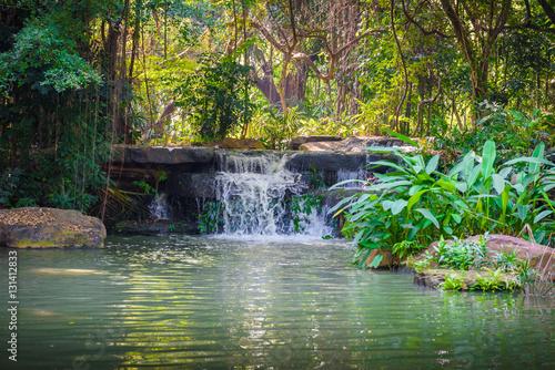 waterfalls in the park © nipastock