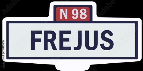 Poster FRÉJUS - Ancien panneau entrée d'agglomération