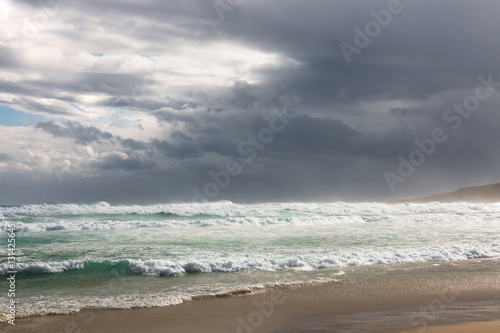 Poster Stormy sky over ocean