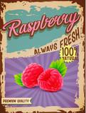 raspberry vintage banner