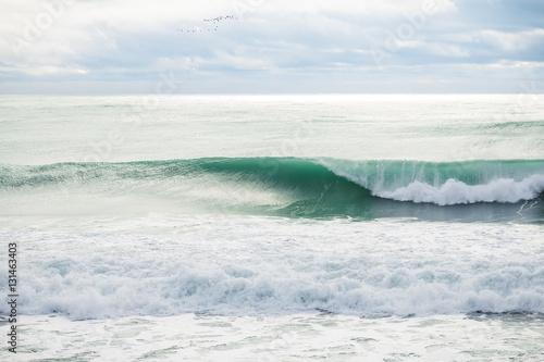 Big waves on ocean. Hurricane swell - 131463403