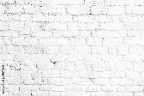 Naklejka white brick wall background