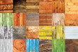 Collage of various different wood texture samples