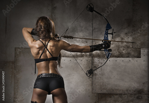 Girl - archery Poster