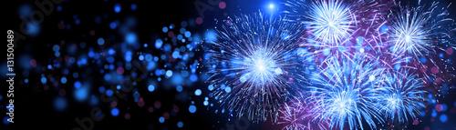 Leinwandbild Motiv Silvester Feuerwerk