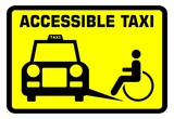 Fototapety Accessible taxi