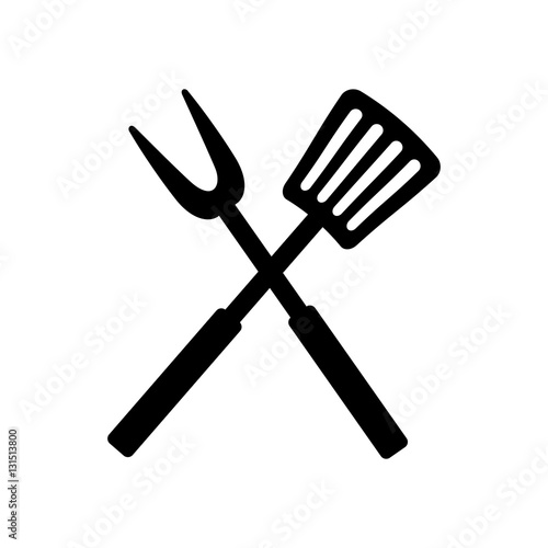 Roasting utensil cutlery icon vector illustration design