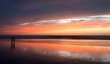 Coucher de soleil sur la plage d'Agadir
