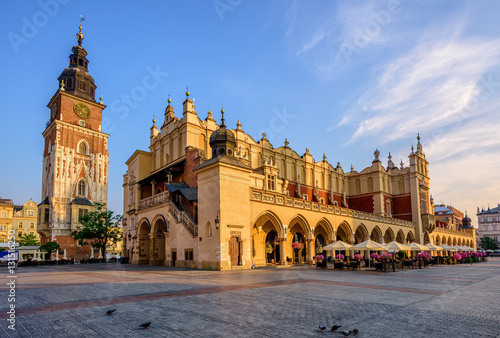 Fotobehang Krakau The Cloth Hall in Krakow Olt Town, Poland