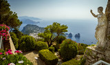 Panoramic view of Capri Island from Mount Solaro, Italy - 131520842