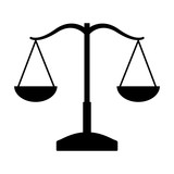 balance justice isolated icon vector illustration design