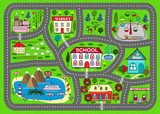 Fototapety Road play mat for children activity and entertainment