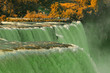View of Niagara waterfall. Fall. Looking from American side.
