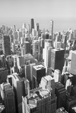 Chicago Skyline in black-and-white
