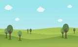 Nature landscape background vector flat