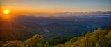 Blue Ridge Parkway summer Appalachian Mountains Sunset - 131540243