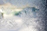 Winter Frost Patterns on Window