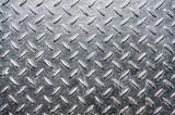 Grunge diamond metal plate