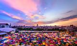 Sunset City view landscape