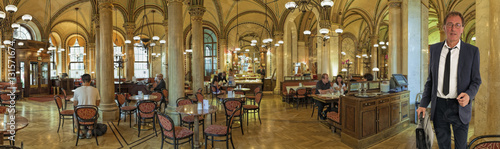 Papiers peints Vienne Cafe Central Wien Innen Panorama