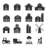 barn icon vector illustration - 131577433