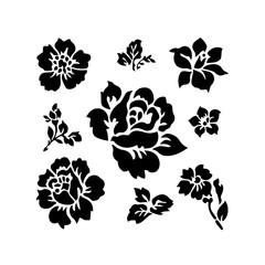 Rose logo, Vector illustration