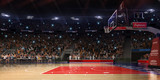 Basketball court with people fan. Sport arena.Photoreal 3d rende - 131592265